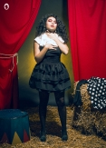 (MUA: Karine Leblanc; Hairdresser: Solanchilla Bonilla) © Mlle Chèvre